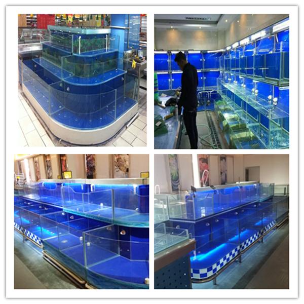 新宁海鲜池制作定做移动式鱼池图片